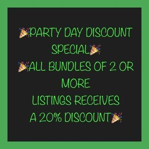 🎉PARTY DAY BUNDLE DISCOUNT🎉